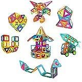 VOOPH マグネットブロック おもちゃ 磁気おもちゃ 磁石ブロック ピタゴラスおもちゃ 男の子 女の子 子ども ぶろっく オモチャ 子供 立体パズル 組み立て 幼児 オモチャ 積み木 DIY 知育玩具 学習玩具 図形 ビルディング積み木 磁気構造 想像力と創造力を育てる クリスマスプレゼント 贈り物 誕生日プレゼント 創意プレゼント 出産祝い ギフト 入園 プレゼント 親子ゲーム 保育園 幼稚園 立体遊び教具 アルファベット 数字カード 車輪 六角形 正方形 三角形 台形 収納ケース付き (118pcs)