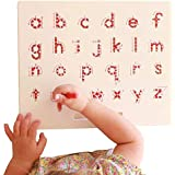 "Magnetic Drawing Board | ABCD Lowercase Alphabetic Letters Sketcher| 12.4"" x 10.0"" Large Tablet 