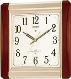 CITIZEN (シチズン) 掛け時計 ネムリーナM492 電波報時付き掛時計 4MN492-006