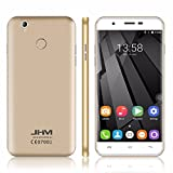 JHM X11 5.5インチ Android 6.0 MTK6737クアッドコア1.3GHz RAM 2GB ROM 16GB WCDMA GPS QHD IPS指紋認識Touch ID 4G Smartphone (ゴールデン)