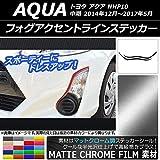 AP フォグアクセントラインステッカー マットクローム調 トヨタ アクア NHP10 中期 2014年12月~2017年05月 シアン AP-MTCR603-CY 入数:1セット(2枚)