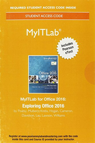 Download MyLab IT with Pearson eText--Access Card--for Exploring Microsoft Office 2016 0134455878