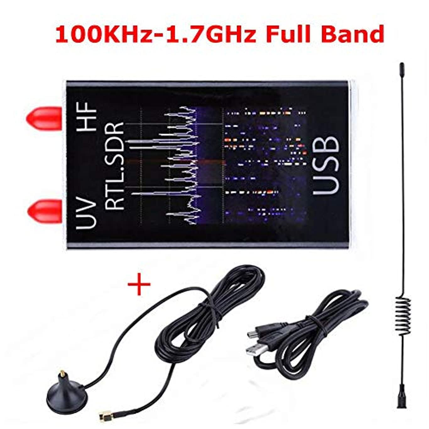 自然鮮やかな帝国ACHICOO 100KHz?1.7GHzフルバンドUV HF RTL-SDR USBチューナーレシーバ/ R820T + 8232ハムラジオ