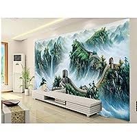 Wuyyii 3 Dの壁紙カスタム壁画不織布壁ステッカー万里の長城中国絵画の壁の背景の壁紙3 D