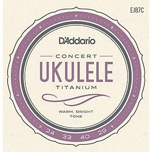 D'Addario ダダリオ ウクレレ弦 EJ87C Titanium Concert コンサート 【国内正規品】