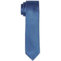 Van Heusen Men's Silk Self Pattern Tie, Navy