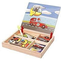 CMrtew ?? DIY ダブル磁気パズル 子供用木製おもちゃ スケッチパッド 学習 - 洋服スタイル B all