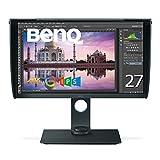 BenQ カラーマネージメントモニター ディスプレイ SW271 27インチ/4K UHD/HDR対応/IPS/DP,HDMI,USB Type C搭載/遮光フード付/AdobeRGB/写真編集用