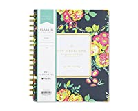 Day Designer for Blue Sky 2018-2019 Academic Year Weekly & Monthly Planner Hardcover Twin-Wire Binding 7 x 9 Peyton Navy Floral Design [並行輸入品]