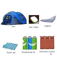 QFFL zhangpeng テント六角形の自動油圧春テントアウトドア4-5キャンプテントキャンプカップルレジャー釣りアカウントビッグテント6colors トンネルテント (色 : G g)