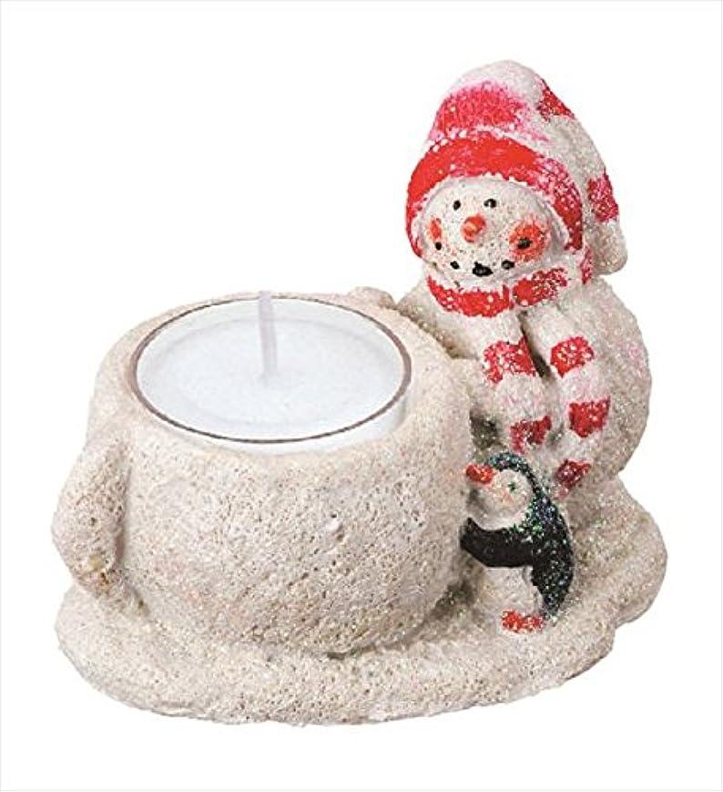 カメヤマキャンドル(kameyama candle) グリッタースノーマンホルダー 「 レッド 」