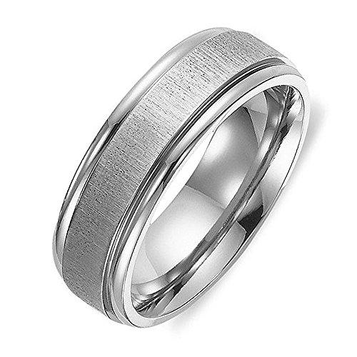 [해외]Gemini 티타늄 링 남성 여성 반지 경량 와이드 4mm 간단한 패션 캐주얼 액세서리 색상은 6~23 호 큰 사이즈 [6 호]/Gemini titanium ring men`s ladies rings lightweight wide 4mm simple fashion casual accessories color silver 6-23 large size...