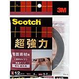 3M スコッチ  超強力両面テープ 粗面素材用 薄手タイプ SRO