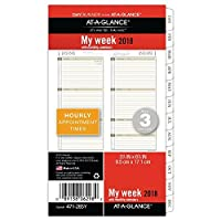 at a glance day runner weekly monthly planner refill january 2018