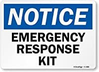 SmartSign Notice: Emergency Response Kit Vinyl Label 10 x 14 [並行輸入品]