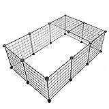 ペットフェンス ペットサークル 【 簡単組み立て 継ぎ足し可能 】 ケージ 犬 猫 室内 侵入防止 簡易フェンス 簡易サークル 6枚セット
