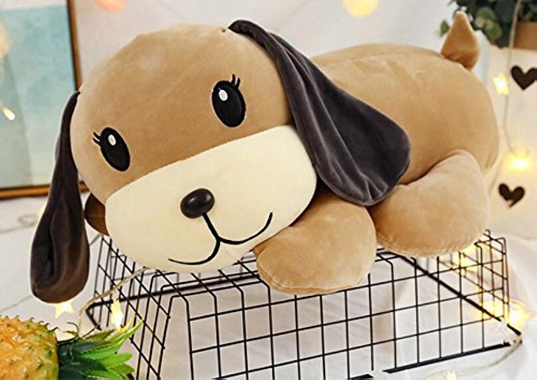 HuaQingPiJu-JP ぬいぐるみ55cmの敷き敷きソフトおもちゃの動物ぬいぐるみ犬のソフトドールチルドレンギフト(ブラウン