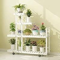 木製の台座プラントスタンド植物の花のディスプレイ植木鉢屋内の屋外庭用ラック (色 : B)