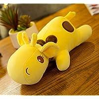 Pinjewelry ホームデコレーション ソフトトイ ぬいぐるみ 鹿 30cm ソフトプラッシュ キリン おもちゃ 人形 子供 ギフト (イエロー)