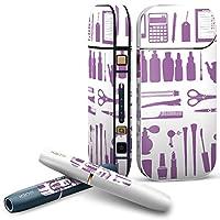 IQOS 2.4 plus 専用スキンシール COMPLETE アイコス 全面セット サイド ボタン デコ ユニーク アニマル その他 ファッション 紫 おしゃれ 003157