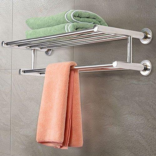 [해외]수건 걸이 수건 선반 욕실 호텔 레일 홀더 수납 스테인레스 스틸 벽걸이 식/Towel rack towel shelf bathroom Hotel rail holder storage stainless steel wall mount type