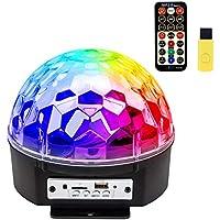 iHOVEN ステージライト 舞台照明 マジックボール クリスタル RGB多色変化 エフェクトライト 回転ライト 水晶魔球 ミラーボール パーティー DJ ディスコライト クラブ バー disco 雰囲気を盛り上げる 多機能 LEDライト 投影ライト (L)