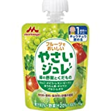 Amazon.co.jp森永乳業 フルーツでおいしいやさいジュレ 緑の野菜とくだもの 70g