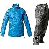マックレインウェア(MAKKU RAIN WEAR) TOURING(ツーリング) 透湿レインスーツ ブルー/ダークグレー L PT-7200