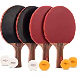Jebor Professional Ping Pong Paddle Advanced Trainning Table Tennis Racket with Carry Case, 7 ply Wooden Blade with Long Hand