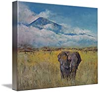 "「Elephant Savanna壁アートプリントbyマイケル・Creese 20"" x 16"" 5233778_3_thickbox"