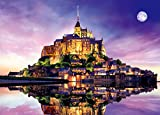 2000ピース ジグソーパズル パズルの超達人EX 夕暮れのモン・サン・ミシェル―フランス スーパースモールピース 【光るパズル】(38x53cm)