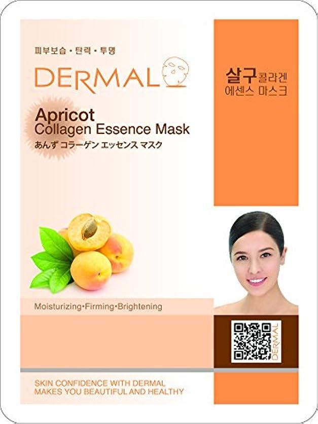 すでに側面慢性的【DERMAL】ダーマル シートマスク あんず 10枚セット/保湿/フェイスマスク/フェイスパック/マスクパック/韓国コスメ [メール便]