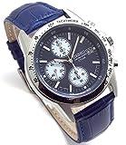 Best セイコー自動腕時計 - SEIKO クロノグラフ 腕時計 本革ベルトセット 国内セイコー正規流通品 ネイビー ブルーベルト SND365P1-BL Review