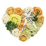 ソープフラワー シャボンフラワー 誕生日 プレゼント 女性 花ギフト 母の日 敬老の日 バレンタイン ホワイトデー お返し 結婚記念日 還暦 お祝い フラワーギフト ハートフラワーボックス バラ 薔薇 あじさい の お花 フラワーアレンジメント