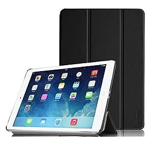 【Fintie】iPad Air (2013) 専用 保護ケース 三つ折スタンドタイプ 高級PUレザー 超薄型 最軽量 オートスリープ機能付き スマートケース カバー  (ブラック)