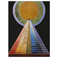 PAINTING HILMA AF KLINT 1907 ALTARPIECE NO 1 GROUP ART PRINT ペイントグループアートプリント