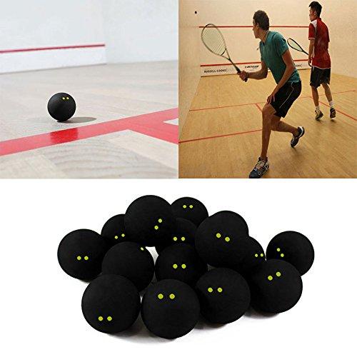 [해외]Beautyrain 포 퍼 공모 스쿼시 공 두 노란색 점 저속 공식 스포츠 고무공 전문 선수/Beautyrain Forfar Competition Squash Ball Two Yellow Points Low Speed ??Official Sports Rubber Ball Professional Player