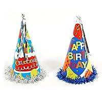 FlomoメタリックGiant誕生日PARTY HATS ( Set of 2)