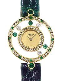 c940df7183 ショパール Chopard ハッピーダイヤモンド 20 4191 22 レディース 腕時計 K18YG ダイヤ エメラルド クォーツ ...