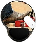 Luxladyマウスパッド手首保護されたマウスパッド/マットwith手首サポートデザインイメージID : 42565159Musicianを使用している足Knocked Tambourine