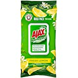Ajax Eco Multipurpose Antibacterial Disinfectant Biodegradable Surface Cleaning Wipes, Fresh Lemon Bulk Pack, 110 Pack