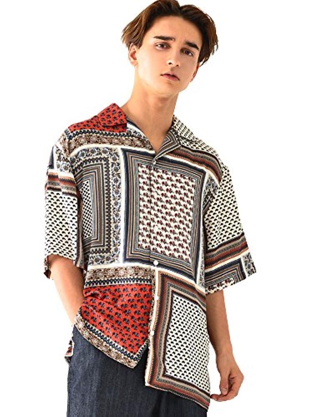 処理いらいらする主張(ベストマート) BestMart ペイズリー柄 半袖 オープンカラー シャツ メンズ ゆったり 開襟 トップス 韓国 624067