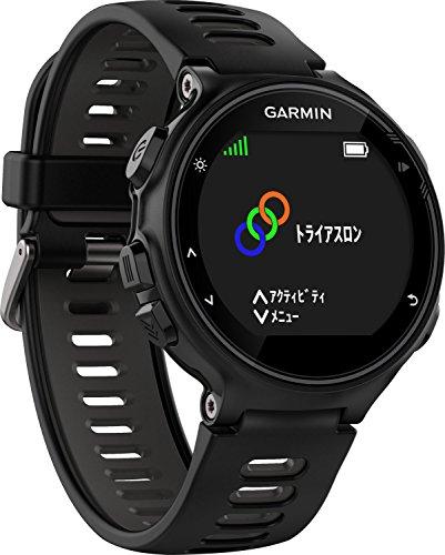 GARMIN(ガーミン) ランニングウォッチ GPS 心拍計 VO2Max トライアスロン対応 50m防水 ForeAthlete 735XTJ ブラック×グレイ 【日本正規品】 FA735XTJ 161424