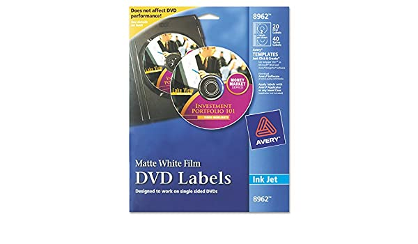 amazon co jp inkjet dvd labels matte white 20 pack 並行輸入品