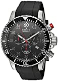 Edoxメンズ' chronorally-s ' Quartzステンレススチールand Rubber Sport Watch , Color : Black ( Model : 102273CA NBN )