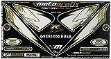 MOTOGRAFIX(モトグラフィックス) ボディパッド GSX1300R隼 08-12 REAR ホワイト/ゴールド MT-RS017AU