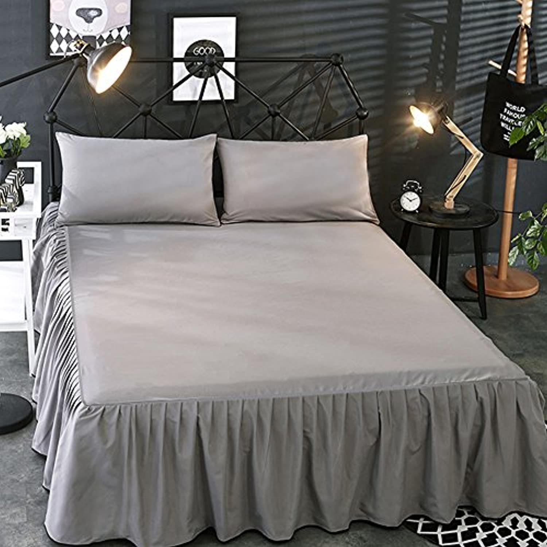PandaCherry_jp ベッドスカート ベッドカバー オシャレなベッドスプレッド 涼しい肌触りの夏用ベッドカバー ナチュラルフリルデザイン アンティーク風 純天然 高級 高質感 雰囲気アップ 上品な単色