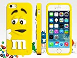 iPhone6 iPhone6ケース カバー シリコンケース M&M's iPhoneケース iphone6用 エムアンドエムズ m&m M&M'S m&m's (イエロー)