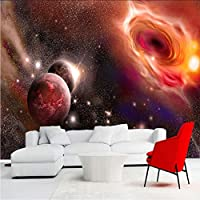 Lcymt カスタム任意サイズ3Dフォト壁紙美しい宇宙星空銀河大壁画壁絵画壁紙用リビングルームの寝室-250X175Cm
