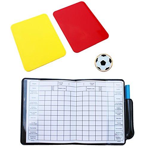 HIROMARUjp サッカー フットサル 審判 セット トスコイン カード スコア手帳 Cセット
